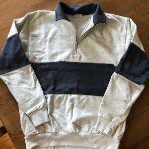 Brandy Melville Color block 1/4 Zip Sweatshirt